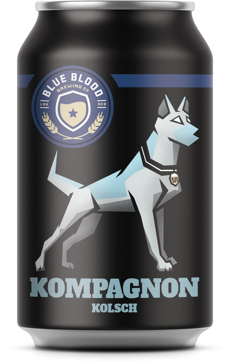 "KOMPAGNON KöLSCH   ABV: 4.2% IBU: 15  Kompangnon [pronounced like ""companion"" and German for buddy] is our tribute to man's best crime-fighting friend and Nebraska's strong German heritage. Using a recipe consistent with the Purity Law of 1516, this light, easygoing Kölsch is perfect for anyone who enjoys a good brew among good company."