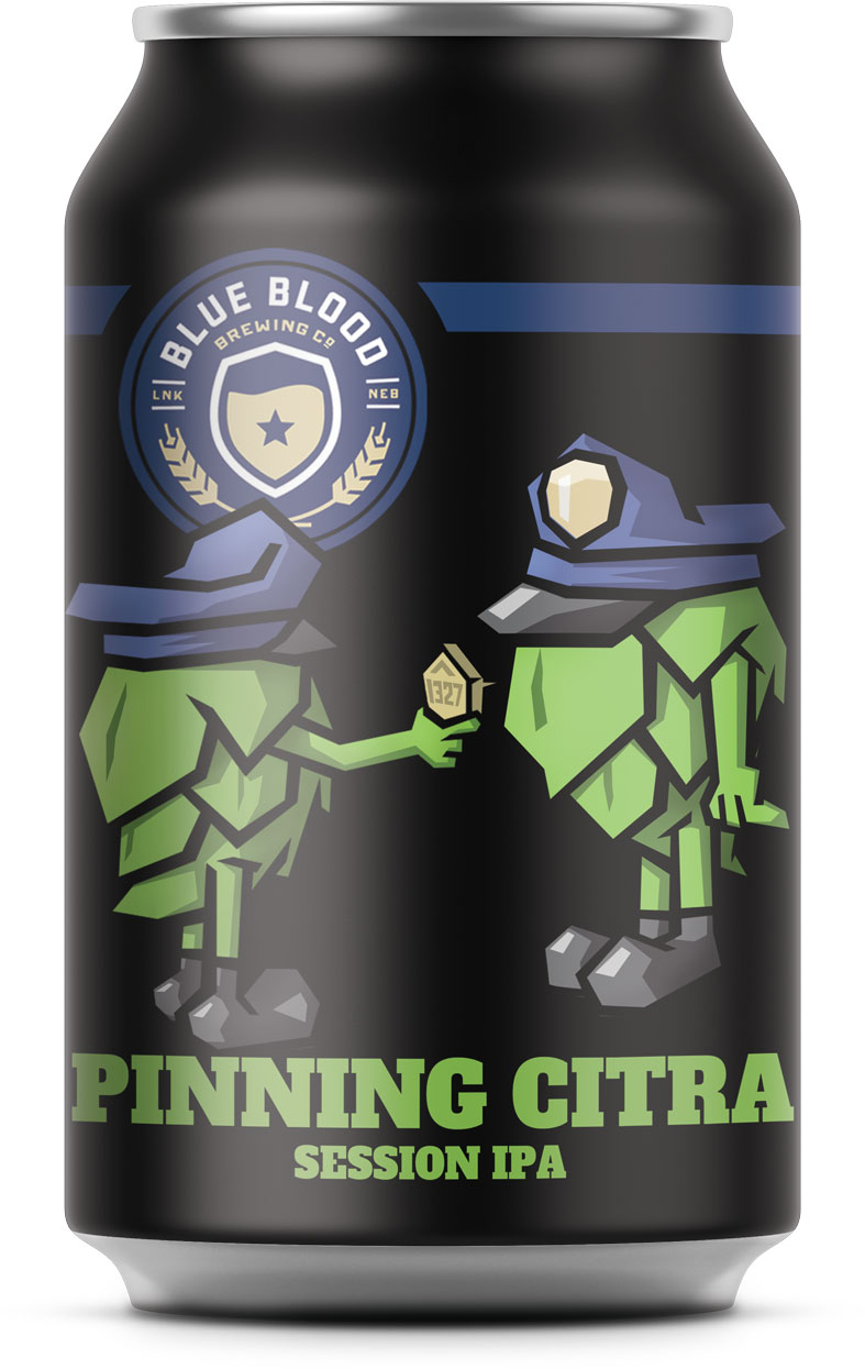 "Pinning Citra-New Year Round Release Coming this April   ABV: 4.9% IBU: 40  Honoring tradition is at the core of our brand…and ""Pinning"" is a time-honored tradition of placing a new badge on the chest of a graduating or promoting officer before they go into the community to protect and serve. Honoring flavor is at the core of our beer…and this refreshing Citra & Mosaic Hopped Session IPA has a flavor profile of citrus and papaya before an herbal hoppy finish. We hope you enjoy celebrating the pinning and promotion of this beer and its service to the beer community by raising a glass in cheers to tradition!"