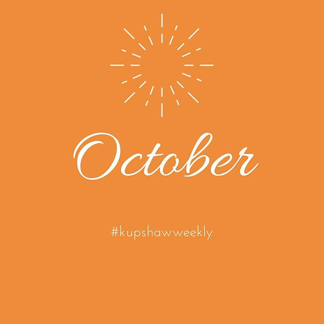 Where has 2018 gone?? A new month means a new opportunity to begin again. May these last few months of 2018 bring you joy, peace, and fulfillment. ✨ #kupshawweekly