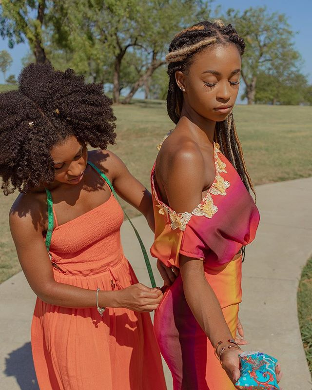 Have you seen my Fall '18 collection?  Visit the link in my bio to see my mini collection. This particular 2 piece garment was inspired by a sunset. I developed the print in @photoshop to recreate the colors. #kupshawweekly
