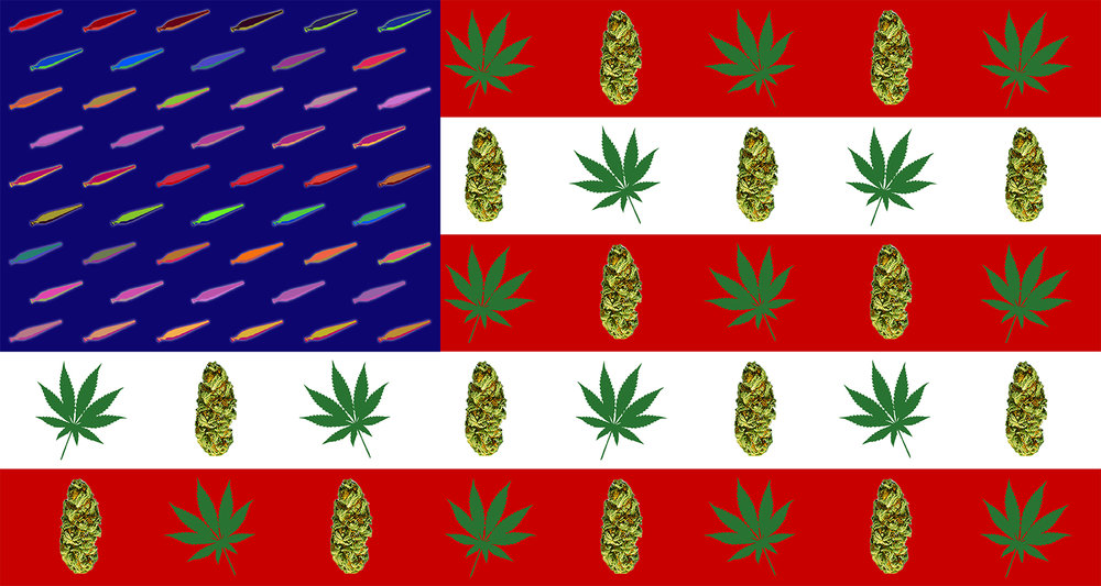 "Freedom to Weed  Archival Print on Premium Matte Paper 12 x 24"" or 24 x 48"""