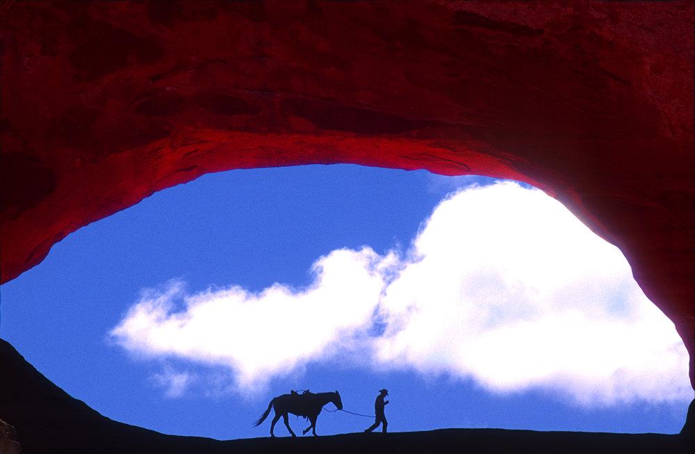 Cowboy At Wilson's Arch 4