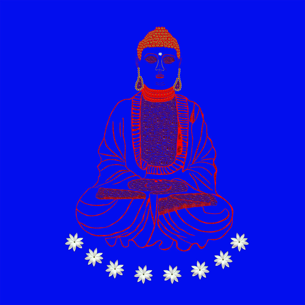 Red Book Buddha - Blue