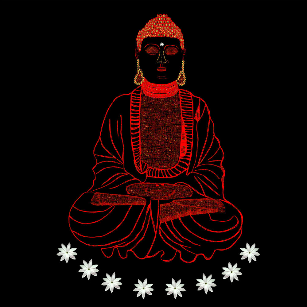 Red Book Buddha - Black