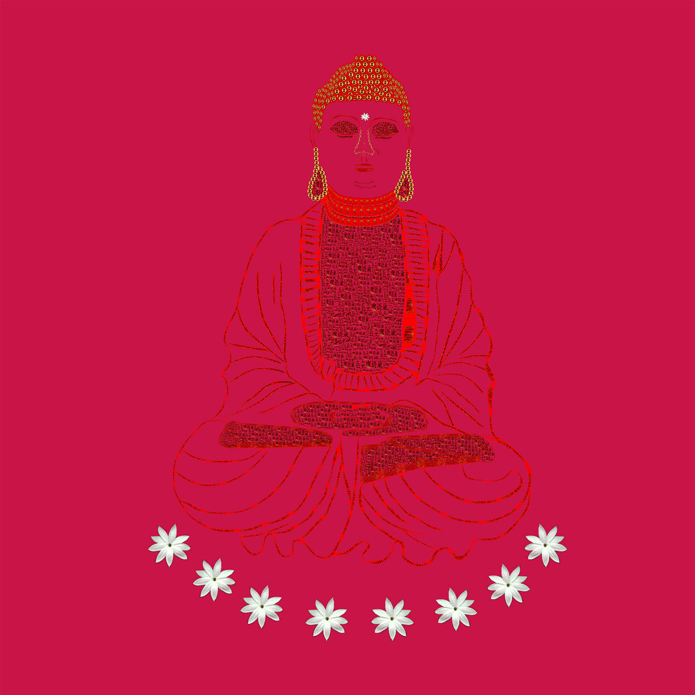 Red Book Buddha - Red