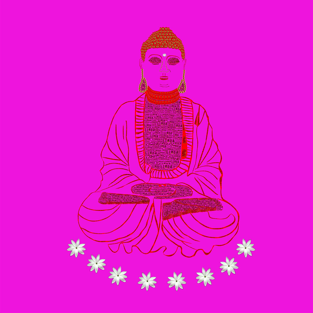 Red Book Buddha - Pink