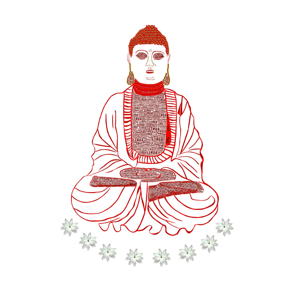 Red Book Buddha - White