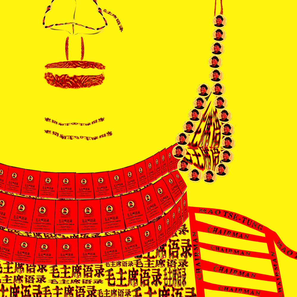 DETAIL: Red Book Buddha - Yellow