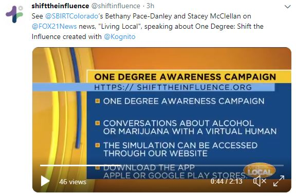 One Degree: Shift the Influence FOX21 — Peer Assistance