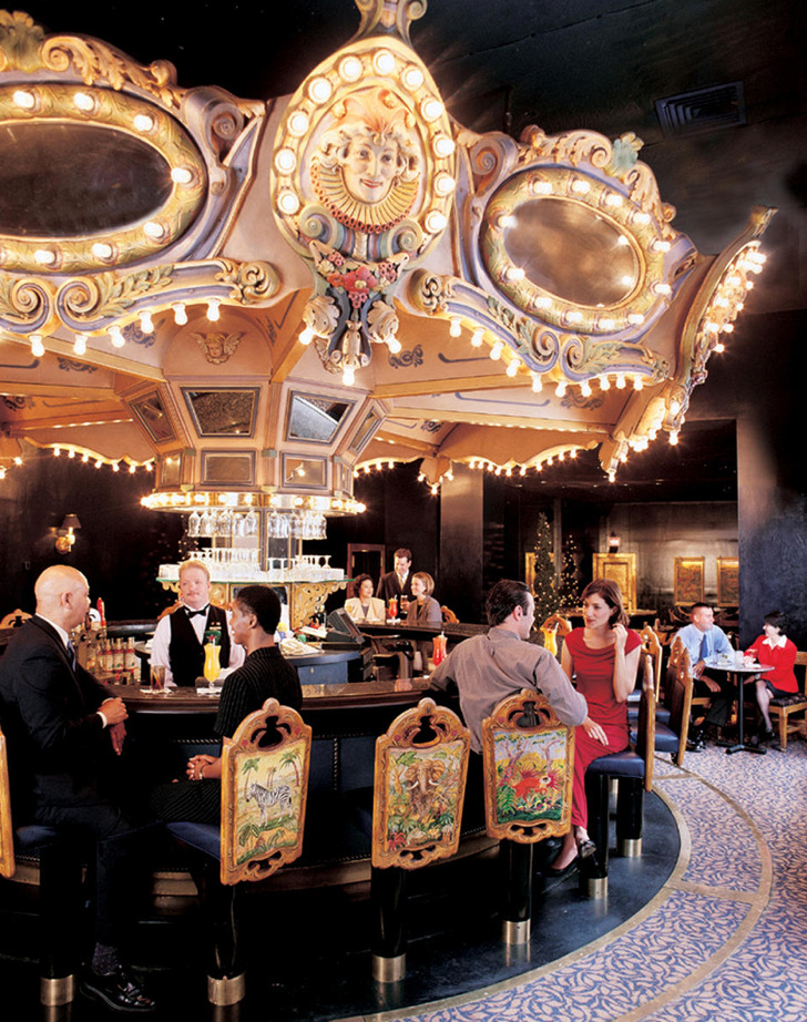 The bar is a rotating carousel, people. Does it get any better?