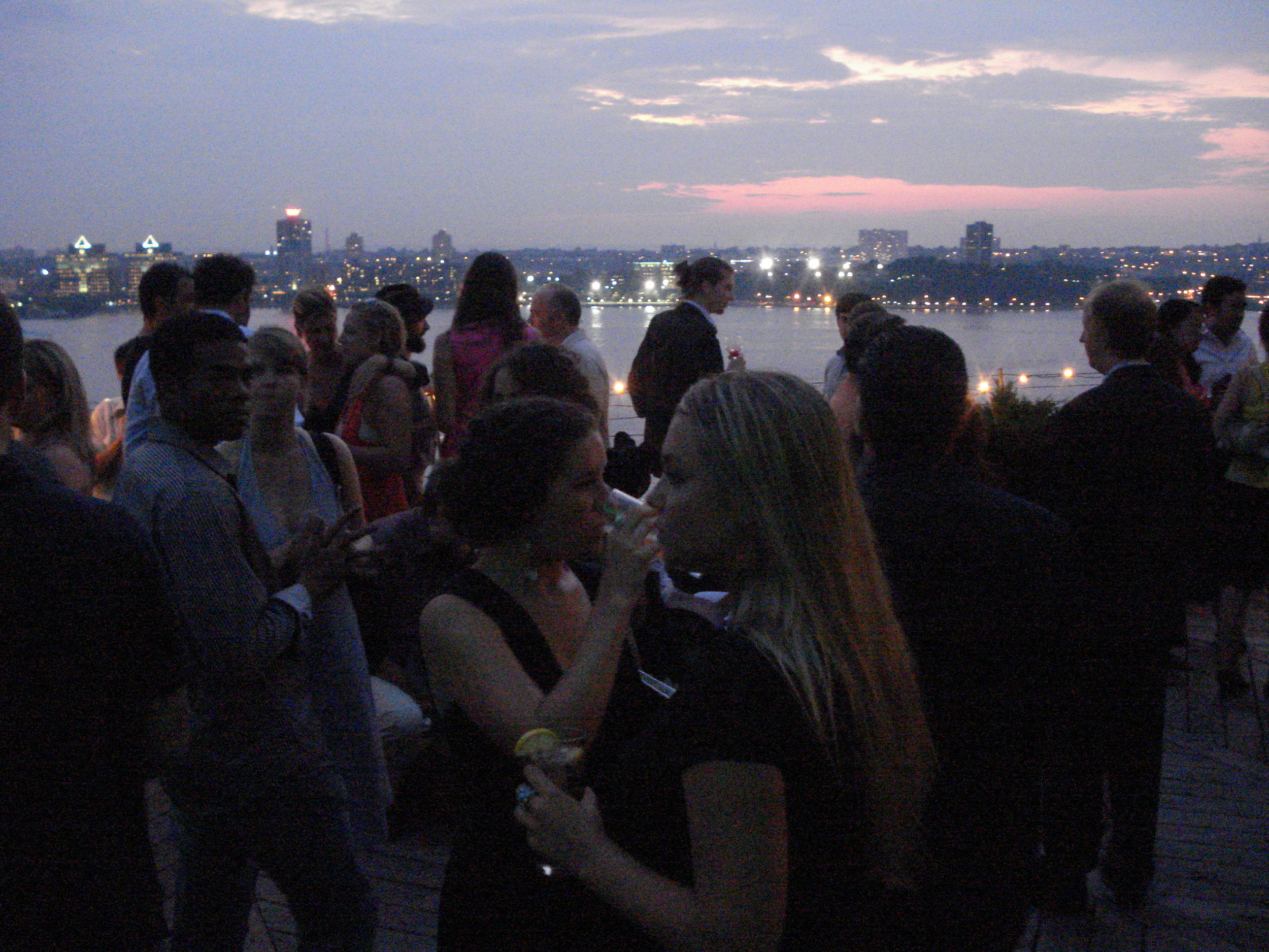 The scene atop the penthouse terraces of Ramscale Gallery.