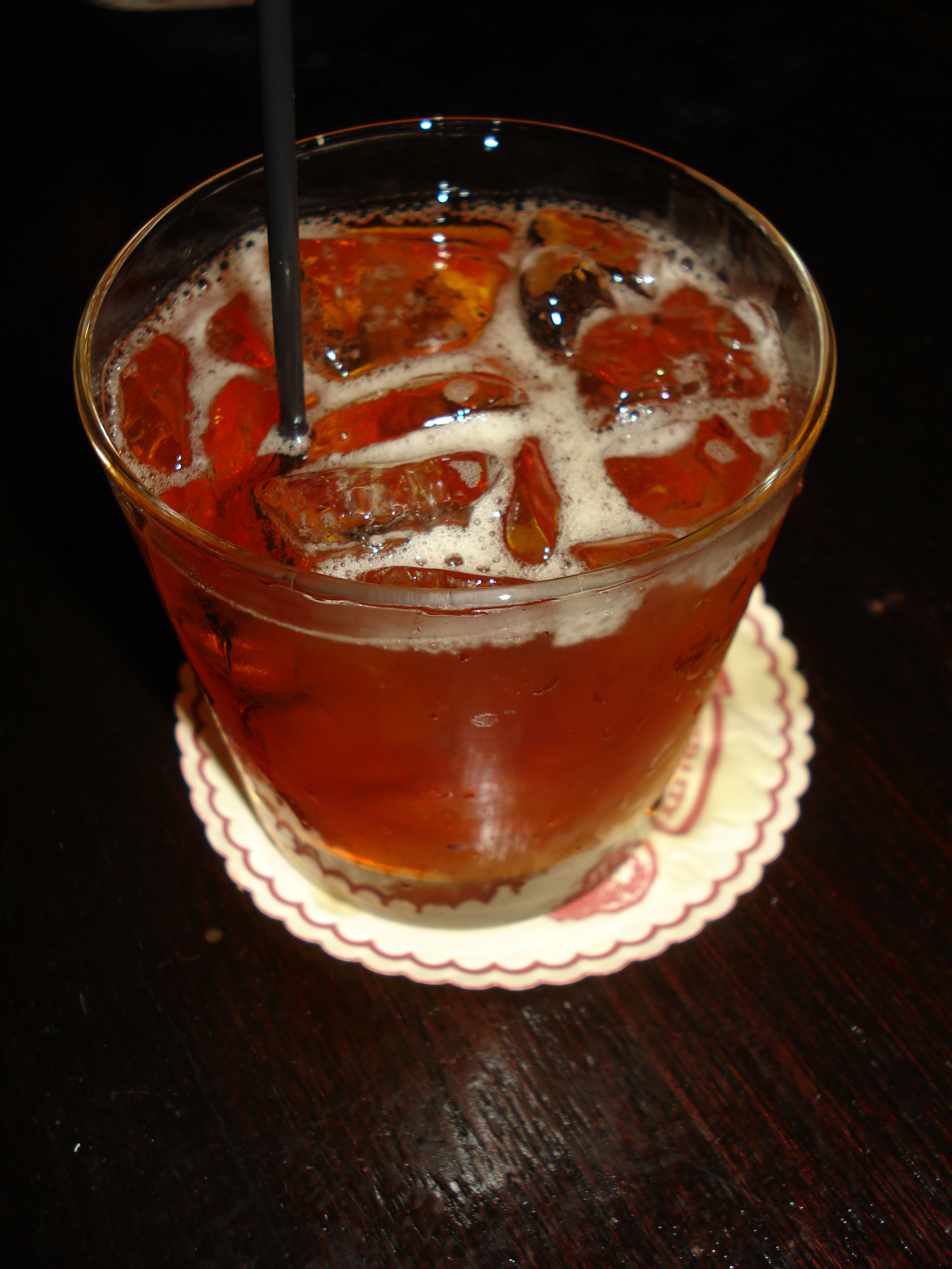 """West Side"" at The Jane Hotel (Maker's Mark, Amaro, honey liqueur)"