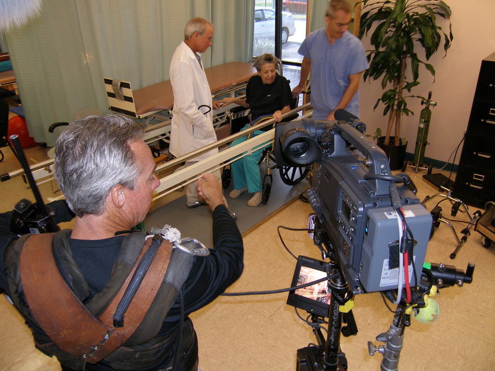 Healthcare with compassion captured with the Steadicam