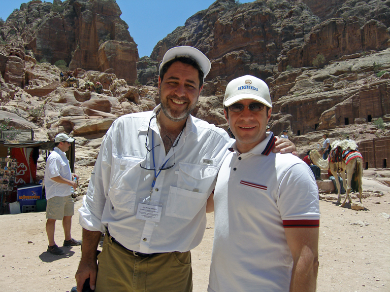 In Petra Jordan with long time friend and client Irwin Katsof