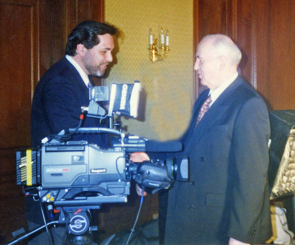 Interviewing Soviet Leader Mikhail Gorbachev, Waldorf Astoria Hotel New York