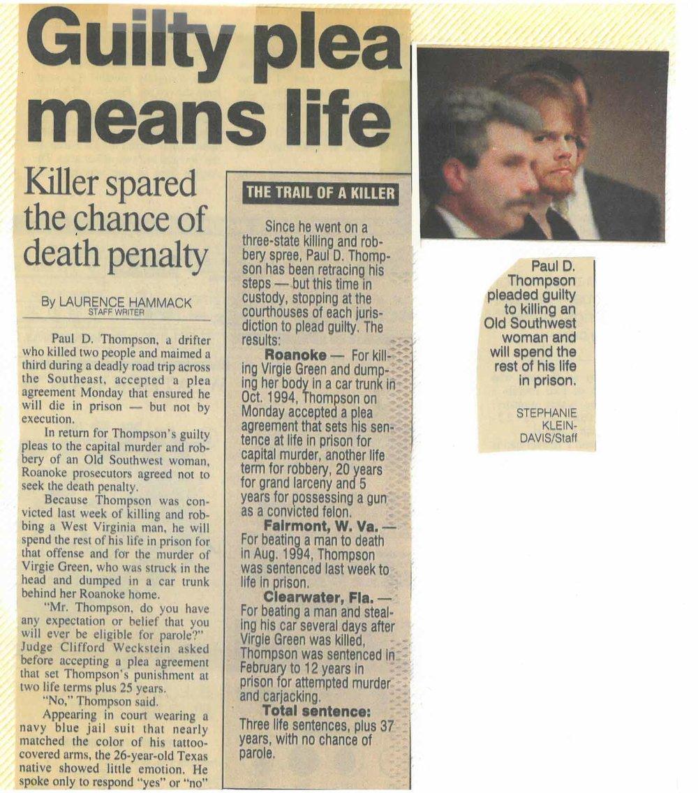 ND Paul Thompson Plea saves Life p 1.jpg