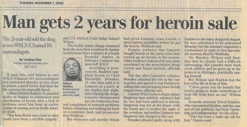 Nov 06' Hadden gets 2 yrs.jpg