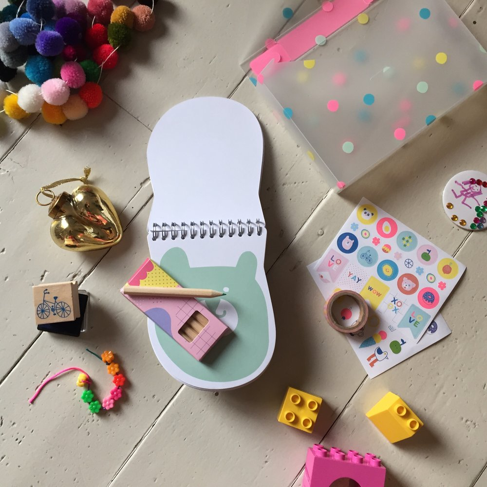 Some of the gorgeous Kikki.K bits for kids - bright, colourful and entertaining.