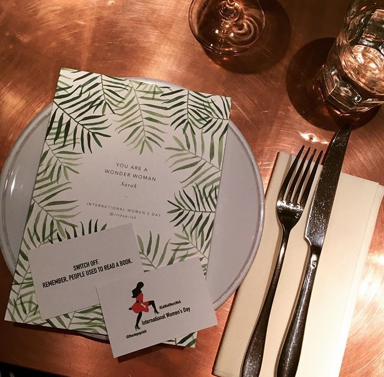 The prettiest table places, courtesy of our personalised notepads care of Papier.