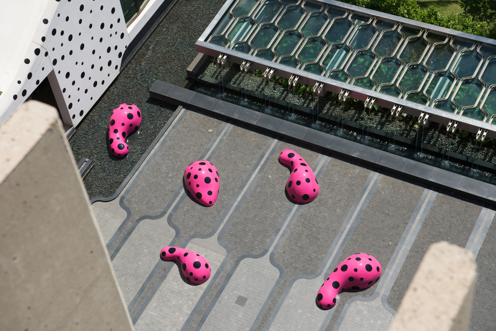 """Footprints of Life"" by Yayoi Kusama will be installed for the show"