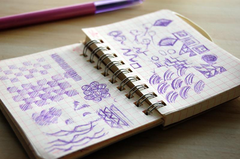 Hitomi's sketchbook.