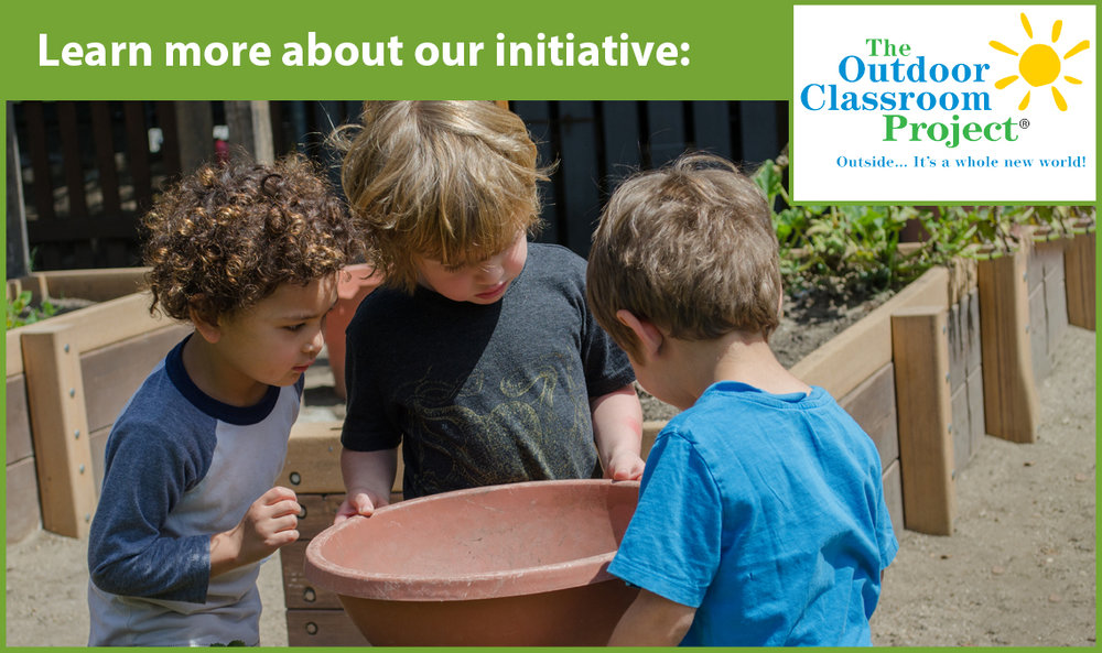 Our initiative increases the quantity and quality of outdoor experiences for children in early care and education programs.
