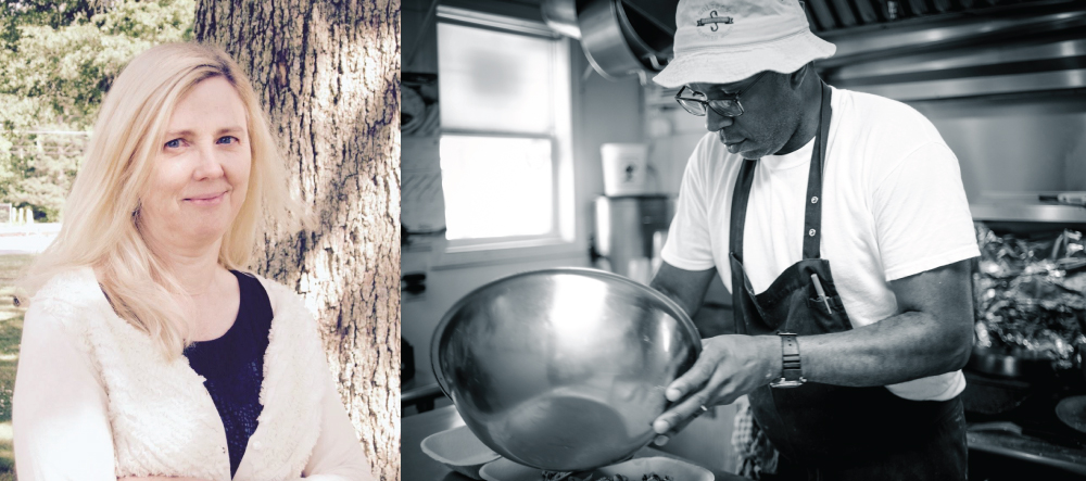 Nancy Gottovi, executive director of STARworks, Star, NC and Chef Ricky Moore of Saltbox Seafood Joint, Durham, NC.