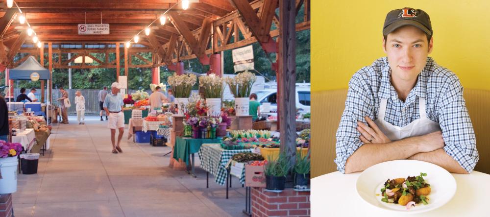 Carrboro Farmers' Market at dawn. Photo by Katy Clune.Aaron Vandemark, Chef Proprietor of Panciuto.