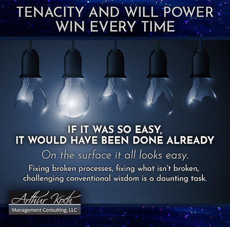 Tenacity And Will Power Win Every Time