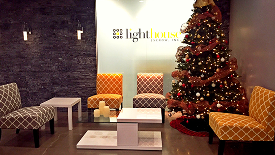 The Christmas and holiday season is a special time for us and we make a big deal of it. Lighthouse CEO, Jay Mills, decorates the entire office in the spirit of the season.