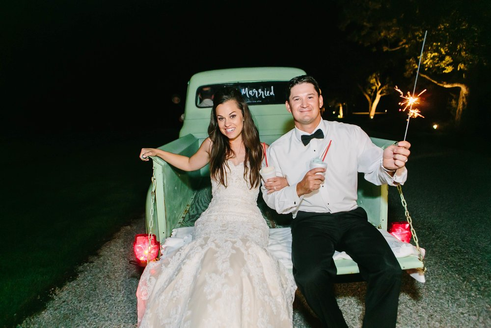 Vendors:  Venue -  Pecan Springs Ranch   Wedding Planner: Paige Morgan -  Pure Love Style   Photographer: Amy Gawlik -  Al Gawlik Photography   Videographer -  New Road Productions   Caterer:  The Peached Tortilla  &  Poke-E-Joes BBQ   Bar:  Hello Trouble Hall   Dessert:  Hello SNO   Pyrotechnics:  Big Dog Pyro