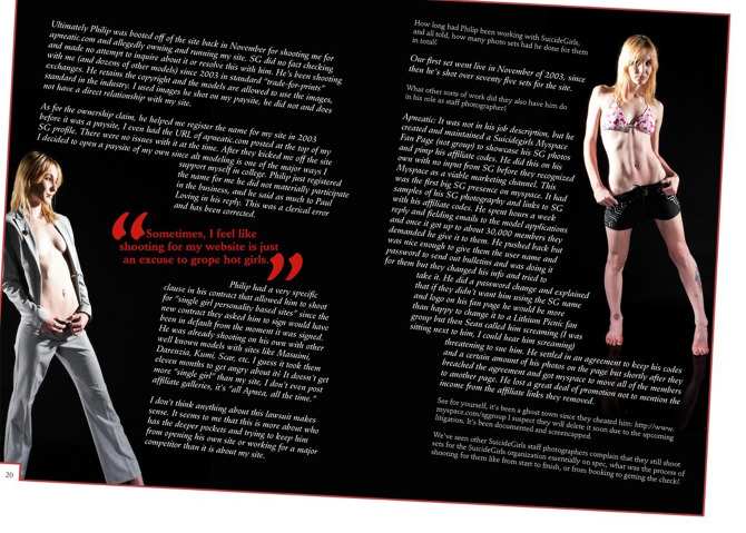 Zealot Cover Story Spread 3 - Alternative Pinup