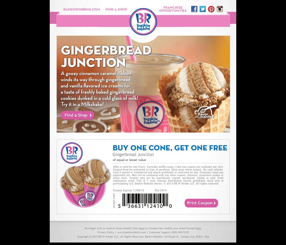 Baskin-Robbins Winter Email