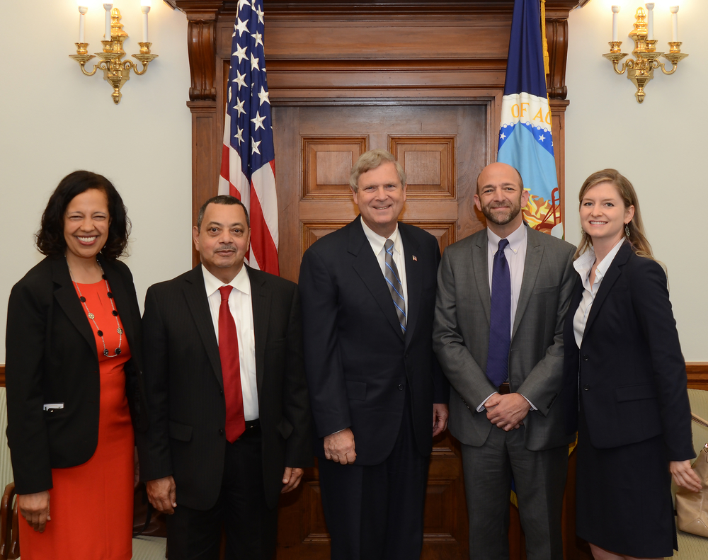 USDA Under Secretary for Rural Development Lisa Mensah, MRBF Board President Dr. James Mitchell, USDA Secretary Tom Vilsack, MRBF Executive Director Justin Maxson, MRBF Communications Officer Susanna Hegner.