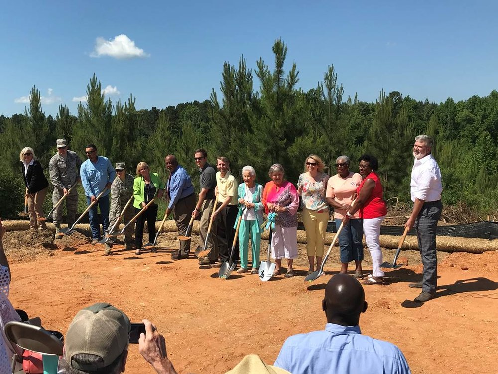 Groundbreaking ceremony at Mississippi's Camp Kamassa in May 2018.