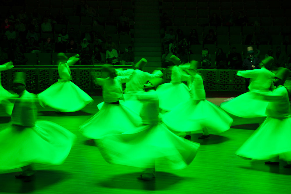 Performers at in the dervish ceremony.
