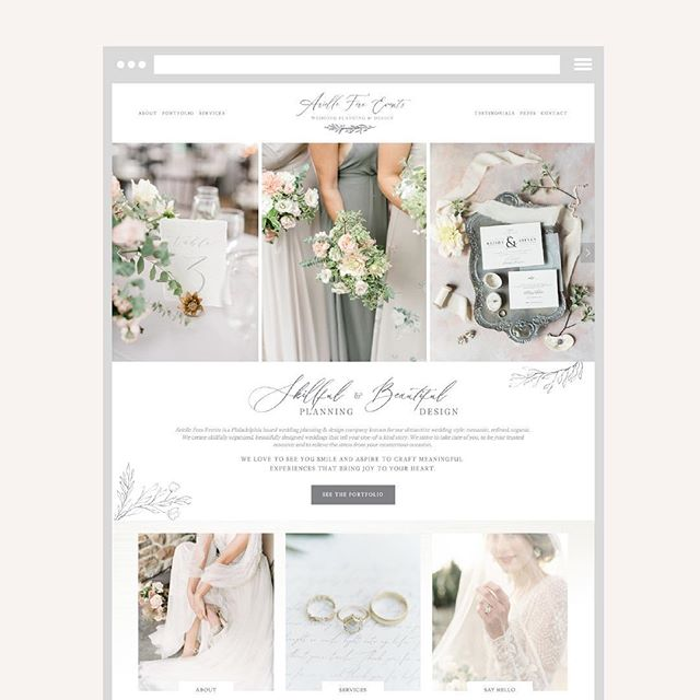 Since the great Instagram outage of 2019 happened yesterday, I'm posting my website Wednesday today 😂 . THIS WEBSITE IS SO FREAKING SPECIAL 💕💕💕 I started working with Arielle of @arielleferaevents a few years ago and designed her first website (swipe to the end see it - oh have my designs come FAR!). . She came back to me this year to do a full blown redesign and I had the literal best time doing it!! 🙌🏼 Seeing how much we've both grown in our businesses and coming together again to create this beauty was so so so great! . Her solid and beautiful new branding gave this website so much life and I was able to add so many little touches to bring it all together 💕👏🏻 . Thank you Arielle for letting me be part of your incredible adventure and bringing your vision to life!! ✨