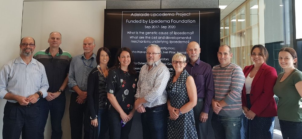 Members of Team Lipoedema Adelaide: Chris Hahn, Peter Brautigan, Neil Piller, Kelly Betterman, Natasha Harvey, Hamish Scott, Michelle Parsons, Eric Haan, Joel Geoghegan, Marielle Esplin and Milena Babic.