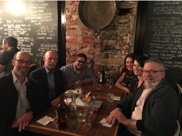 Figure 1: Dinner and Science with (from