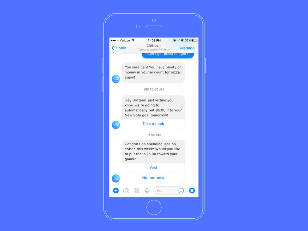 TrendSpend - Learn your spending habits overtime and gain insights on how to better manage your available funds through TrendSpend notifications, delivered in-app and within Facebook messenger.