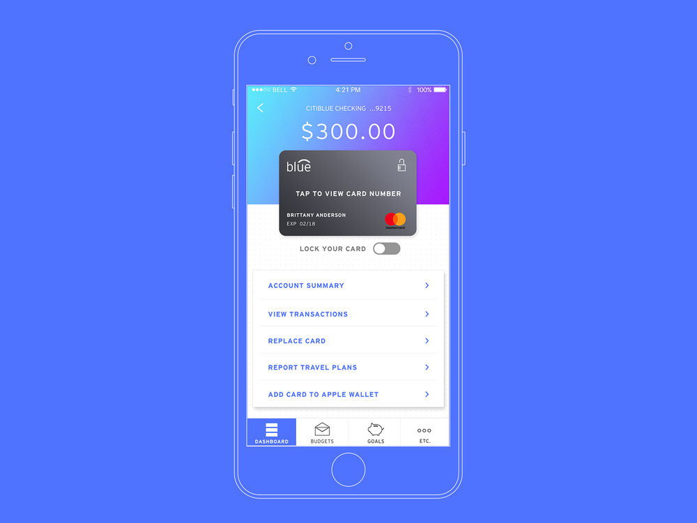 Customer Experience - Build a relationship with your bank by speaking to the same customer service rep every time. Quick in-app functions including paying a friend, freezing a lost card and posting travel notifications.