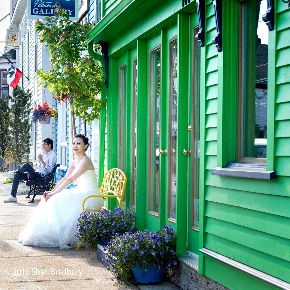 Beautiful bride in Lunenburg, Nova Scotia