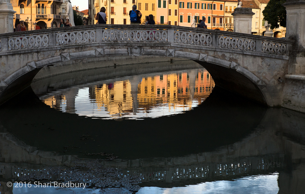The bridge at Prato della Valle.