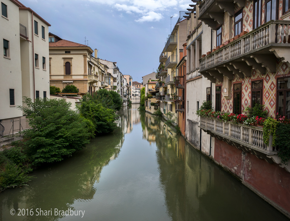 Apartments along a canal in Padua.