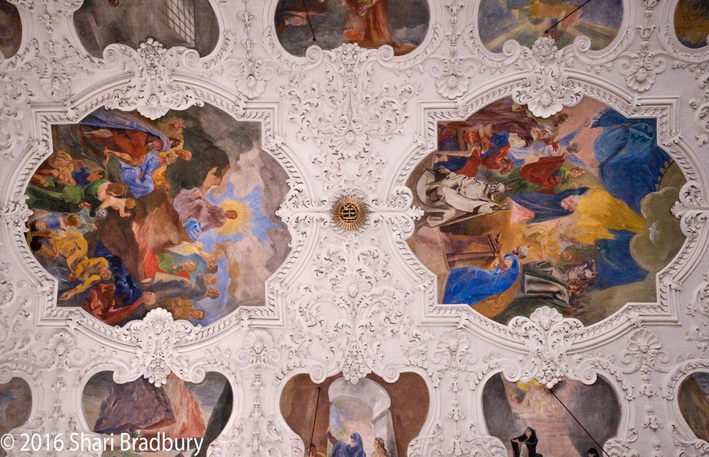 A portion of the central ceiling.