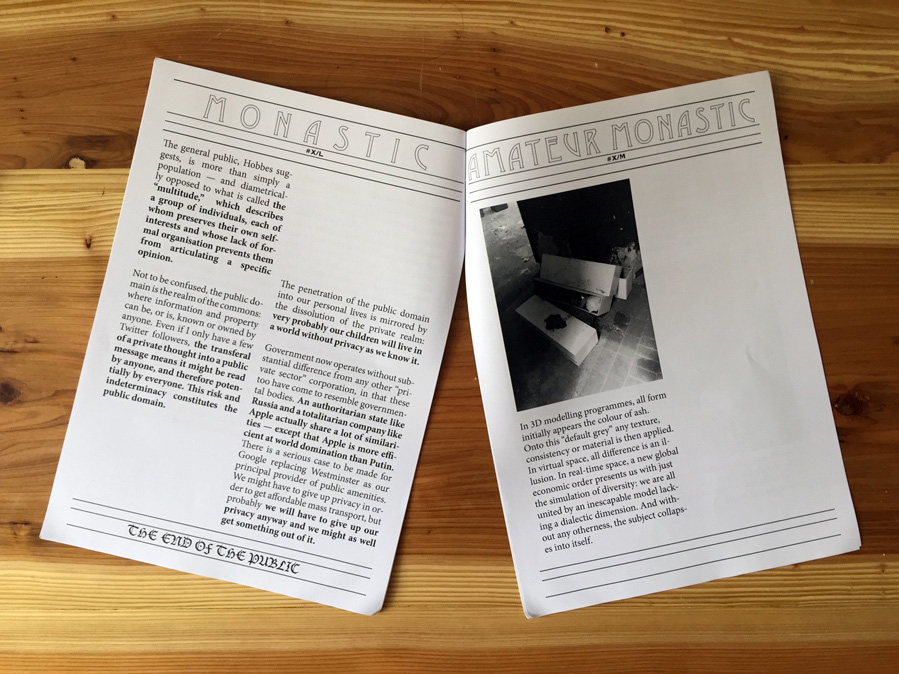 Mimetic Club Bulletin #10 with texts by Jack Self.