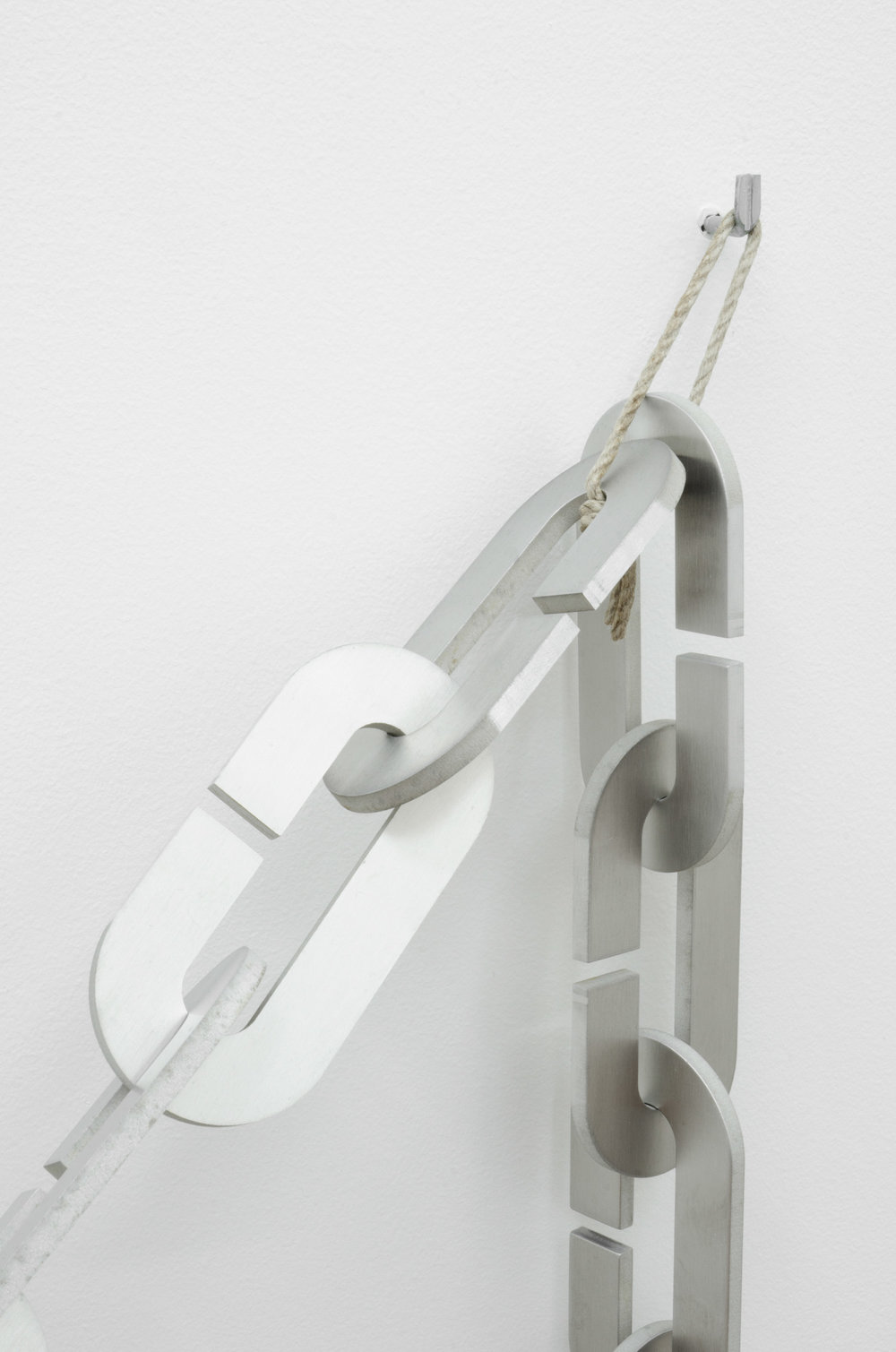 Harald Klingelhöller,  Streets After the Rain , 2012, aluminium and anodised aluminium, 120 x 500 x 135 cm (detail).