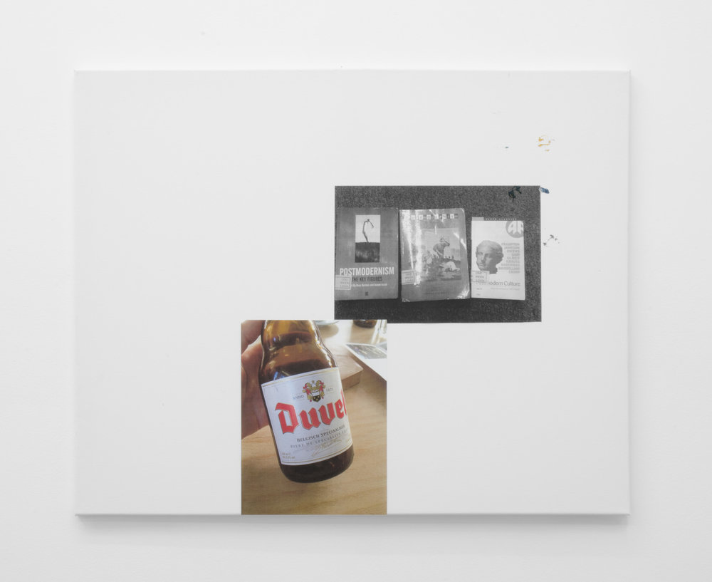 Post-modernism, duvel, 2016, Inkjet print on paper mounted on canvas, 61 x 77cm.