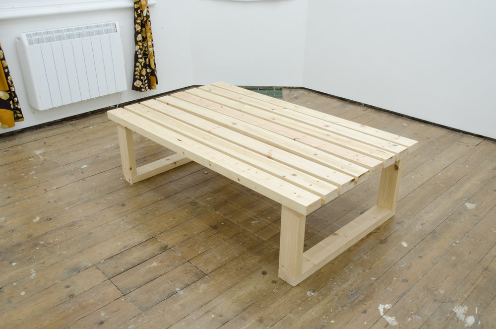 Brendan Fowler   Bench   2016   Pine & screws   44 x 150 x 89cm