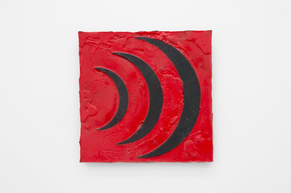 ))) 2017 Latex relief 21 x 21cm